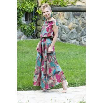 Sukienka z kieszeniami Oceania Mocca