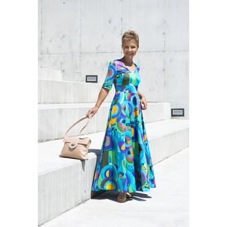 Sukienka z rękawem Fiorentina BLUE GEOMETRY