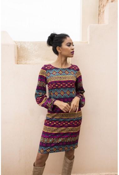 Sukienka w aztecki wzór...