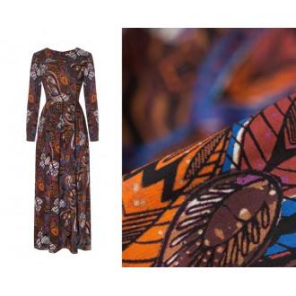 Sukienka z długim rękawem Sicilia liście