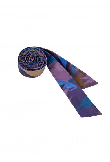 Długi bawełniany pasek purple